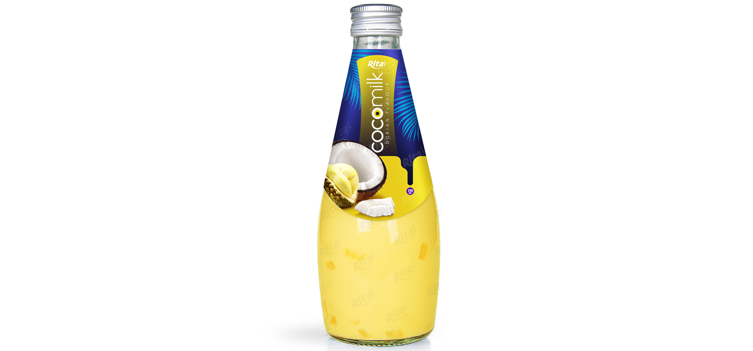 Coconut milk with durian flavor 290ml glass bottle from RITA US