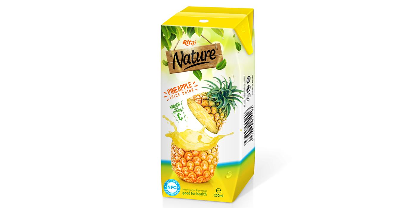 Fresh pineapple aseptic 200ml