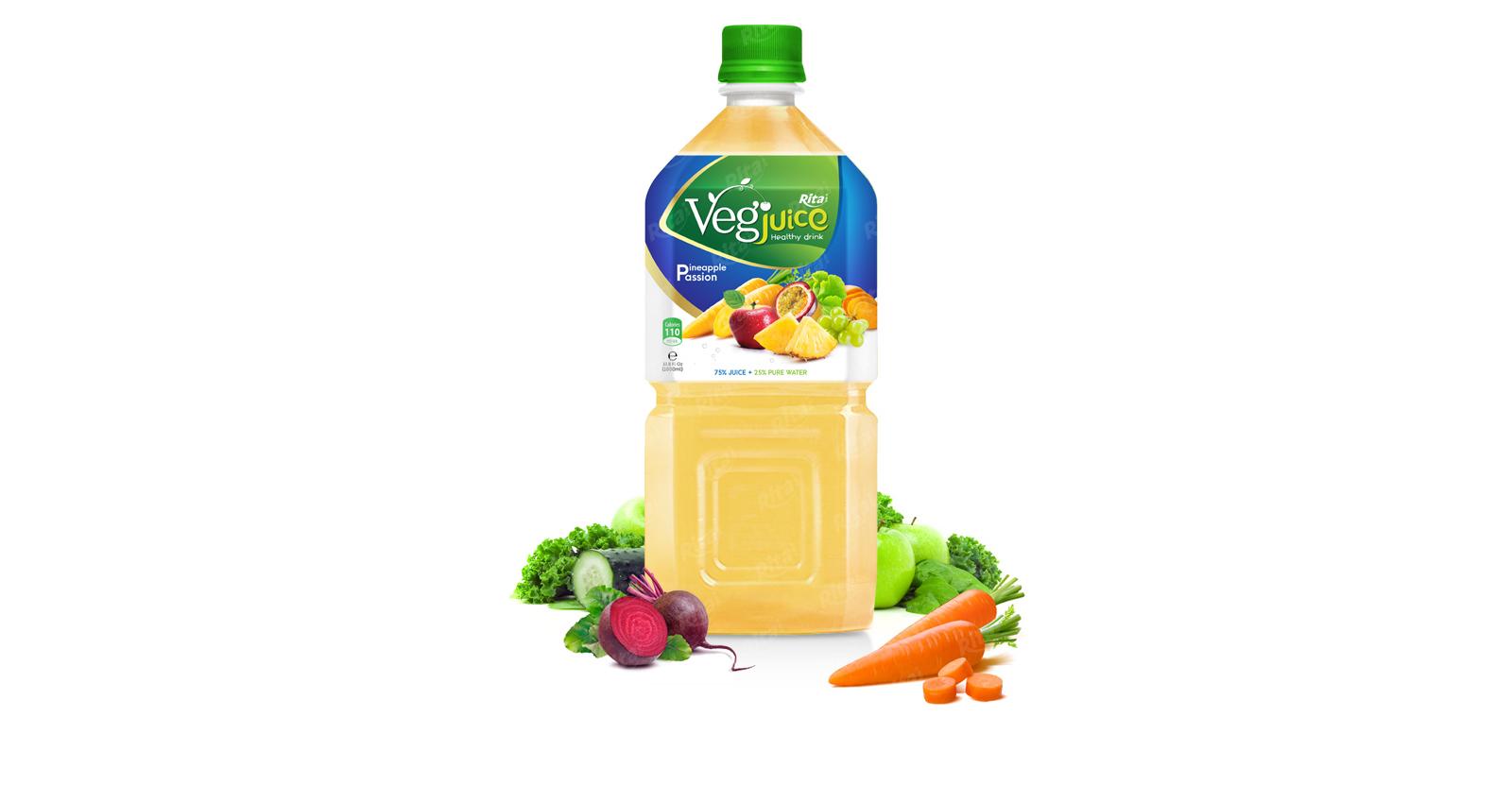 Rita vegetable pineapple passion 1000ml pet bottle