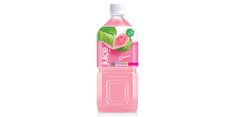 Natural pink guave juice drink 1000ml pet bottle