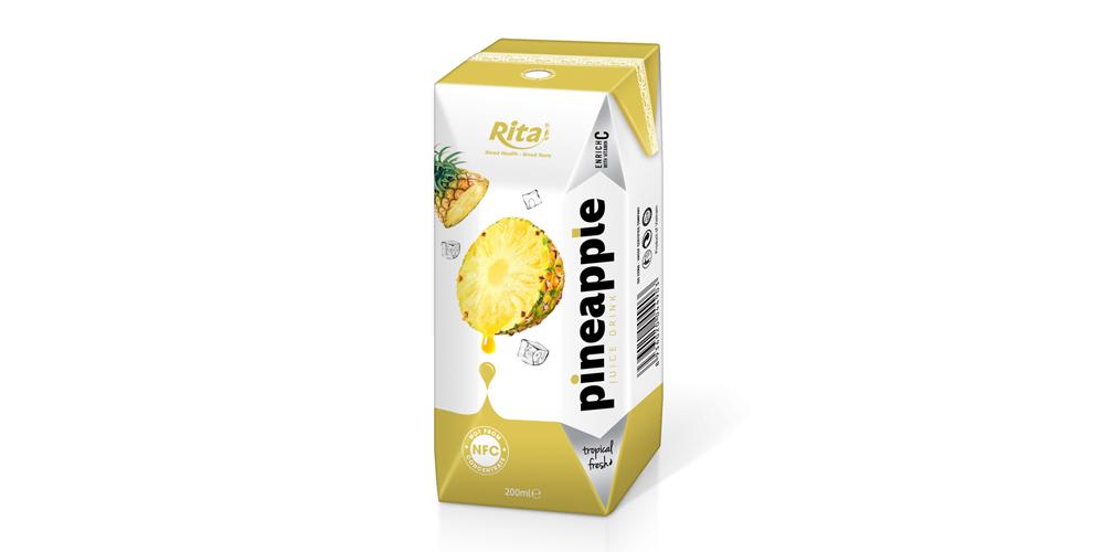 NFC fruit pineapple juice in prisma pak