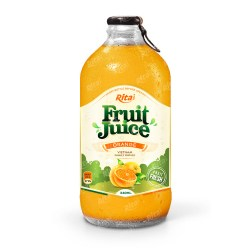 Orange fruit juice 340ml glass bottle from RITA US