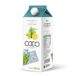Supplier Coconut water basil seed with pineapple flavour 1L