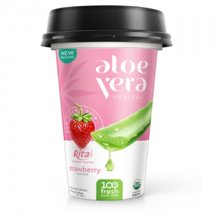 PP cup 330ml aloe vera with strawberry
